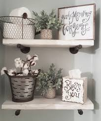 cool bathroom farmhouse rustic style shelving with storage ideas