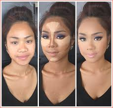 makeup foundation contouring highlighting