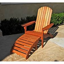 Adirondack Chair With Ottoman Teak Outdoor Patio Chairs Armchairs Recliners