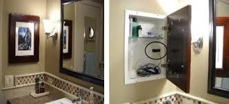 bathroom medicine cabinets with electrical outlet medicine cabinet charming hidden medicine cabinet bathroom wall