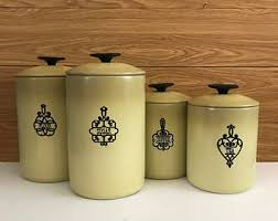 kitchen canister set kitchen canister set etsy