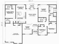 5 Bedroom House Plans Under 2000 Square Feet Small One Story House Plans One Story House Plans With
