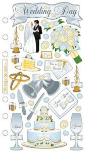wedding scrapbook supplies express yourself mip 3d stickers wedding day dress chagne