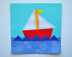 triangle ship craft and shape matching game i heart crafty things
