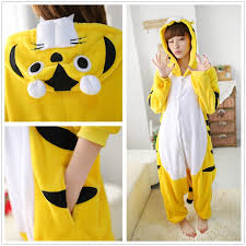 yellow tiger onesies pajamas animal sleepwear pajama sets oneises