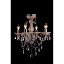 Cheap Pink Chandelier Elise 4 Arm Chandelier