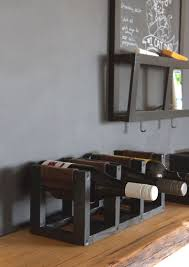 How To Build A Wine Rack In A Kitchen Cabinet Diy Wine Rack With Leather Sling