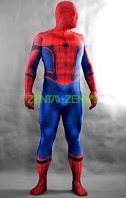 spider man from civil war printed spandex lycra bodysuit