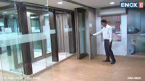 enox movable wooden partition system ewsldf 301 youtube