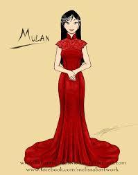 mulan wedding gown sketch by bahamutdeusmodus on deviantart