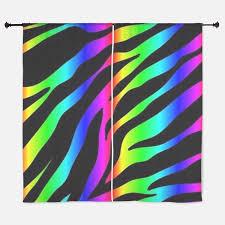 rainbow zebra window curtains u0026 drapes rainbow zebra curtains for
