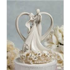 cake toppers wedding vintage pearl and heart wedding cake topper wedding cake