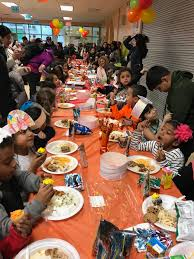 ridgewood and maspeth after school students celebrate thanksgiving