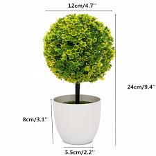 Artificial Topiaries - artificial topiary tree ball plant flowers buxus plants in pot