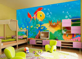 Cute Kids Room Wall Painting With Fish Pictures Ideas Dream Home - Wall paint for kids room