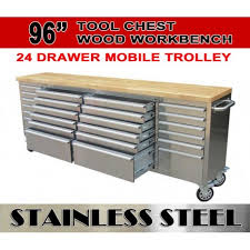 stainless steel workbench cabinets 96 tool chest trolley workbench