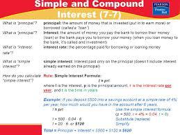pre algebra lesson 7 7 warm up pre algebra simple and compound