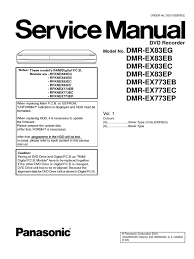 panasonic dmr ex83 ex773 service manual electrostatic discharge