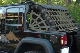 07 jeep wrangler dirtydog 4x4 rear spider netting for 07 17 jeep wrangler unlimited