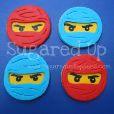ninjago cake toppers www sugareduptoppers fondant cupcake toppers by sugared up