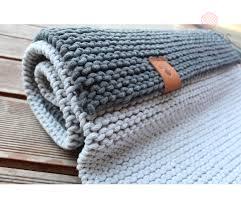 hand knitted rug b103 light grey catnessdesign