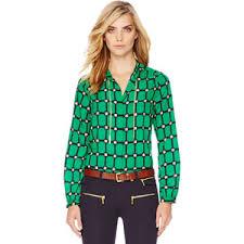 michael kors blouses s printed chain neck blouse michael michael kors polyvore