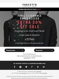 farfetch black friday farfetch clearance extra 30 off sale exclusive early access