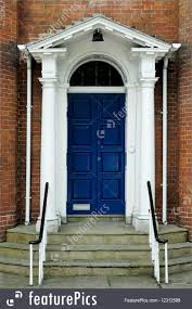 georgian house architectural details georgian house door stock picture