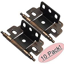Full Wrap Around Cabinet Hinges by Amerock Pk3180tbg10 Full Inset Partial Wrap Ball Tip Hinge With