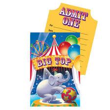 custom circus invitations circus birthday party invitations birthday wikii