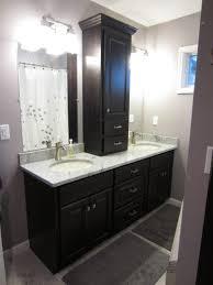Dark Vanity Bathroom Bathroom Dark Brown Small Real Wood Vanity With Stroage Drawers