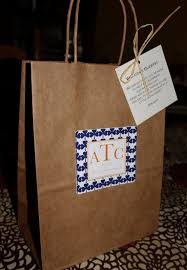 wedding hotel gift bags wedding welcome bags classic style guest bag with clovers navy