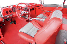 pink car interior interior makeover for a 1959 chevy impala the 2014 street rodder