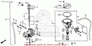honda c70 passport 1983 d usa carburetor schematic partsfiche