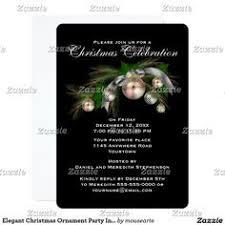 Christmas Ornament Party Invitations - christmas ornaments modern party invitation christmas ornament