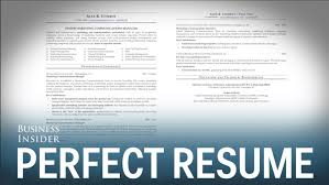 make a perfect resume the perfect resume example resume examples