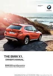 bmw x1 2015 e84 owner u0027s manual