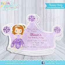 sofia the birthday party princess sofia invitations princess sofia invitation