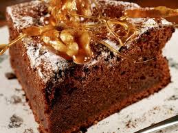 brownies with spun caramel garnish recipe eat smarter usa
