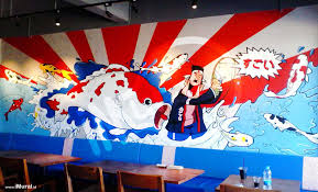 mural at japanese restaurant indonesia mural jasa lukis mural if you are looking for mural wall painting service for restaurant cafe or other related places with japanese feel you can reach us directly on 0856