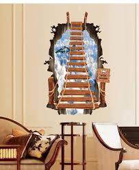 Posters For Living Room by 3d Stair Personalized Fashion Creative Wall Stickers Ladder Sky