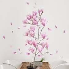 wandtattoo mit eigenem namen wandtattoo floral magnolie zweig set