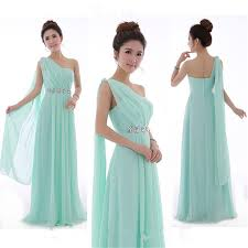 mint green bridesmaid dress aliexpress buy mint green bridesmaid dress one shoulder