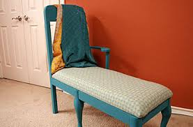 Diy Chaise Lounge Turn A Dining Chair Into A Chaise Lounge Curbly