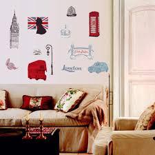 well wreapped bibitime british style london wall decal sticker well wreapped bibitime british style london wall decal sticker telephone booth big ben tower bridge