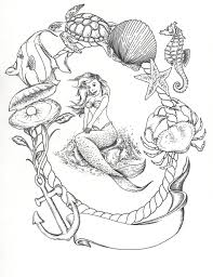 mermaid tattoo sketch photo 4 photo pictures