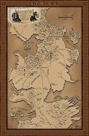 Map Westeros Map Of The North Resources A Game Of Thrones