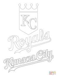 kansas city royals logo coloring page free printable coloring pages