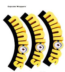 free minion movie printable cupcake toppers u0026 decorations