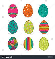 set bright easter eggs stock vector 250866616 shutterstock